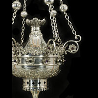 Gothic Revival Silver Plated Chandelier | Westland Antiques