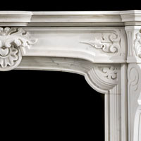 A French Baroque Chimneypiece Mantel | Westland Antiques