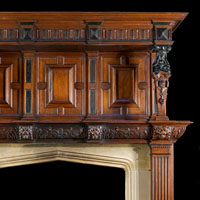 Oak And Ebony Renaissance Chimneypiece | Westland London