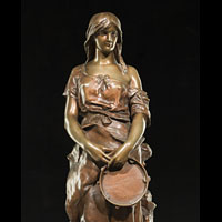Bronze  Gypsy Girl Model Tambourine | Westland London