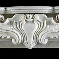 French White Marble Chimneypiece Mantel | Westland Antiques.