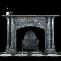 Saint Anne Marble Victorian Gothic Fireplace | Westland London