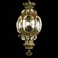 Regency Hexagonal Brass Antique Lantern | Westland London