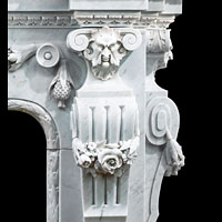 Baroque French Marble Fireplace Mantel | Westland London