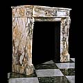 Louis XVI Regency Pavonazza Marble Fireplace | Westland London