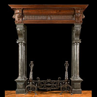 Belgian Blue Marble And Oak Chimneypiece | Westland Antiques