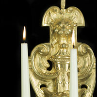 Gilt Bronze Three Branch Wall Lights | Westland London