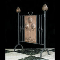 Art Nouveau Copper Steel Fire Screen | Westland London