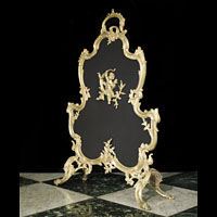 A Rococo Style Bronze French Fire Screen | Westland London