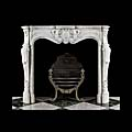 White Marble Rococo French Antique Fireplace | Westland London