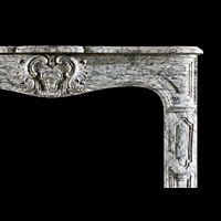 Baroque Arabascato Marble Antique Fireplace | Westland London