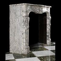 Rococo Arabascato Marble Antique Fireplace | Westland London