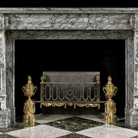French Grey Marble Antique Fireplace | Westland London