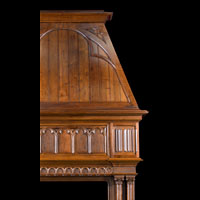 French Gothic Revival Wood Fireplace | Westland London