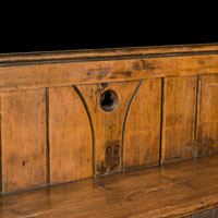 Arts And Crafts Oak Wood Antique Pew | Westland London