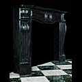 French Belgian Black Marble Fireplace Mantel | Westland Antiques