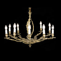 Ten Branch Brass Acanthus Chandelier | Westland London
