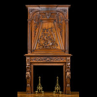 French Walnut Trumeau Fireplace | Westland Antiques