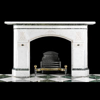Aesthetic Gothic Statuary Marble Antique Fireplace | Westland