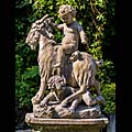Putti Goats Carrara Marble Garden Sculptures | Westland London