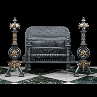 Gothic Revival Iron Gilt Antique Fire Grate | Westland London