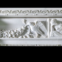White Marble Italian Regency Antique Fireplace | Westland London