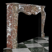 Languedoc Marble Rococo Antique Fireplace | Westland London