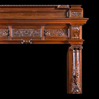 French Renaissance Antique Wood Fireplace | Westland London