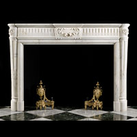 French Louis XVI Statuary Marble Fireplace | Westland London