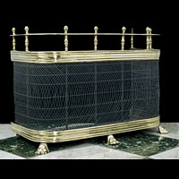 Brass Mesh Victorian Nursery Fireplace Fender | Westland London
