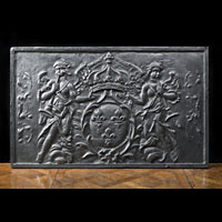 French Armorial Kingdom Antique Fireback
