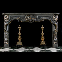 Louis XV Rococo Blue Stone Belgian Fireplace | Westland London