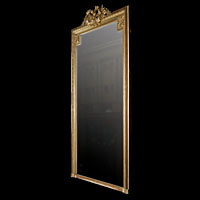 Gilded Wood Crest French Antique Overmantle | Westland London