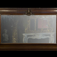 French Oak Antique Large Overmantle Mirror | Westland London