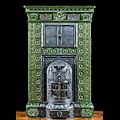 Green Tiled Ceramic Antique French Stove | Westland London