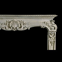 Rococo Stone French Antique Fireplace | Westland London