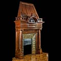 French Walnut Wood Renaissance Fireplace | Westland London