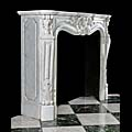 White Marble French Rococo Fireplace Mantel | Westland London