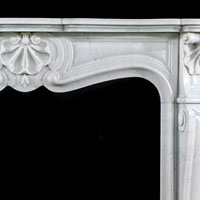 Louis XV White Marble Rococo Antique Fireplace | Westland London