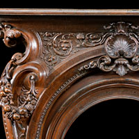 Victorian Cast Iron Rococo Fireplace Mantel | Westland London