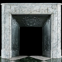 French Arabascato Marble Fireplace Mantel | Westland | London