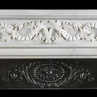 Statuary White Marble French Fireplace | Westland London