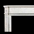 Small Louis XVI White Marble Fireplace Mantel | Westland London