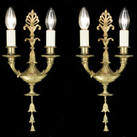 Regency Four Palmette Bellflower Wall Lights | Westland London