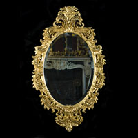 Rococo Giltwood Ornate Antique Wall Mirror