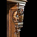 French Gothic Carved Walnut Fireplace | Westland Antiques