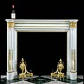 White Marble Ormolu French Antique Fireplace | Westland London