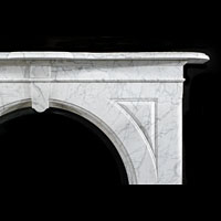 White Marble Arched Victorian Fireplace Mantel | Westland London
