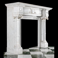 Large Antique Fireplace Mantel Columned | Westland London