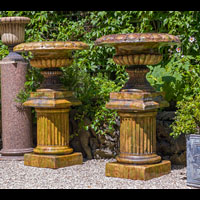 Pair Stoneware Scottish Large Garden Urns | Westland London